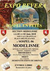 Affiche expo modelisme sospel 2018